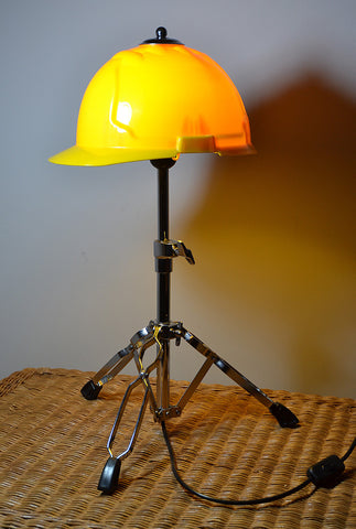 Safety Helmet Table lamp/Desk light 'Get Ahead Get A Hat'