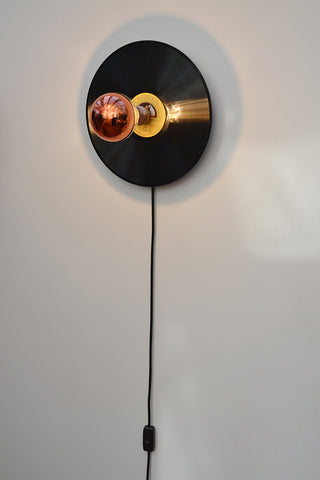 HMV Enrico Caruso 78 'In the Groove' plug-in Wall light