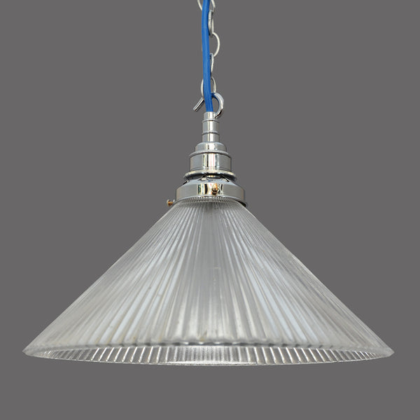 1950s/1960s Holophane prismatic glass Ceiling/Pendant Light