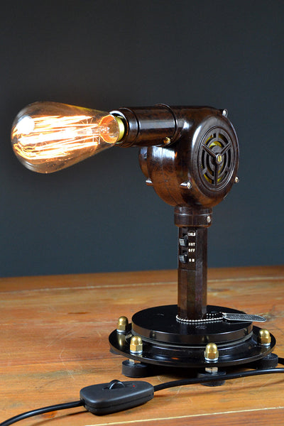'Light Wave' Hairdryer Table lamp