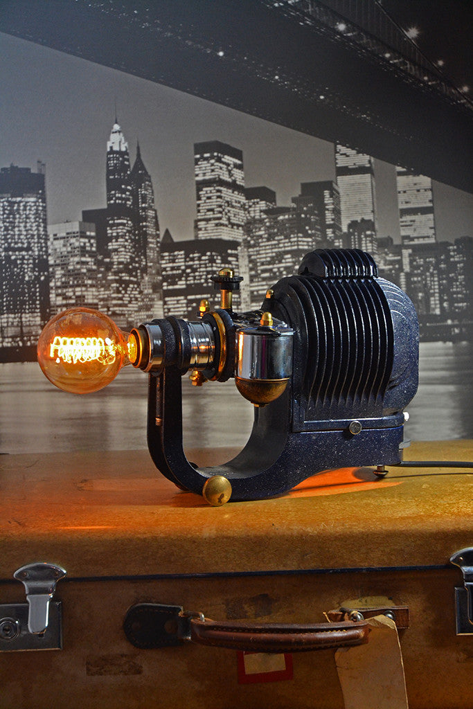 Mid Century Modern lighting, Metropolis Steam Punk table lamp
