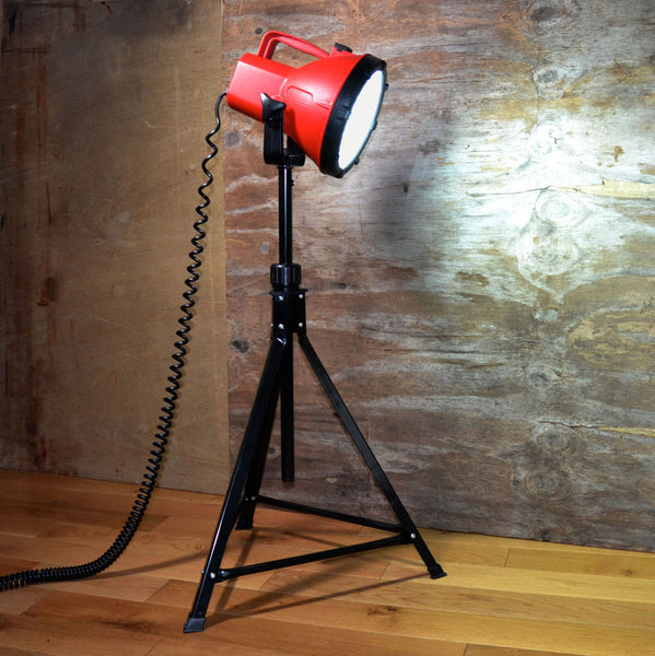'MR CONFIDENT' FLOOR LIGHT ❘ Funky unusual designer lighting made from repurposed objects