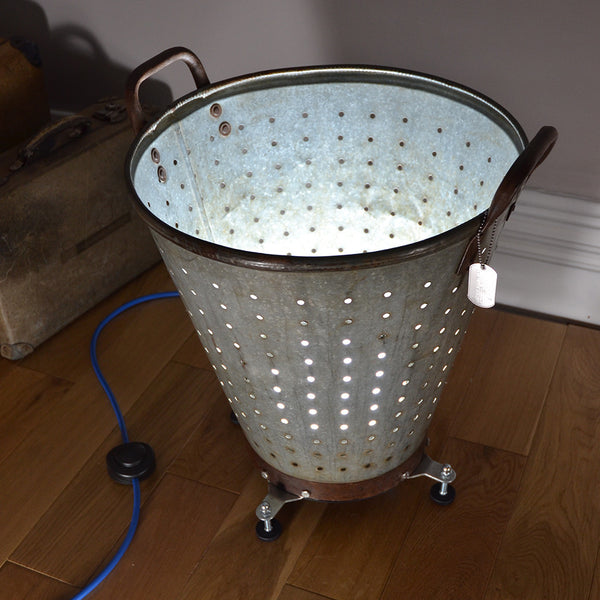 Upcycled Uplighter 'Mr Mussel'