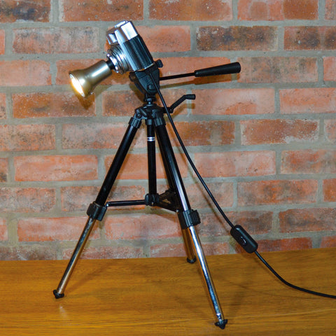 'OPTIMA 1' TABLE?DESK LAMP ❘ Funky unusual designer lighting made from repurposed objects