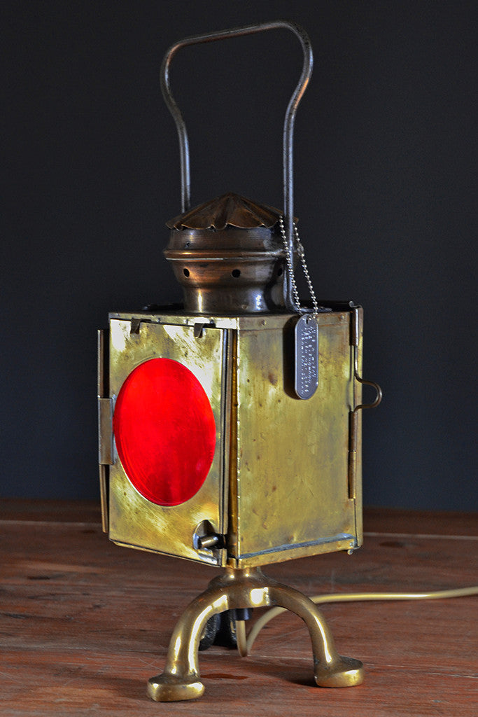 The 'Signalman' Table lamp, unusual lighting