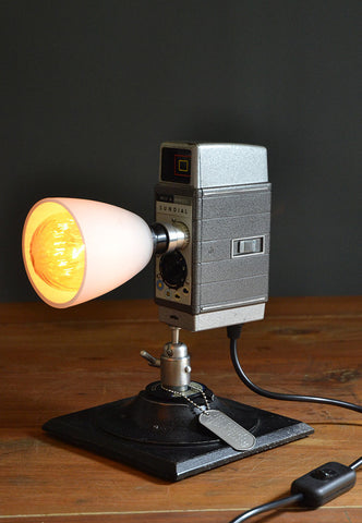 The 'Sundial' Camera Light, Quirky Table Lamp/Desk lamp