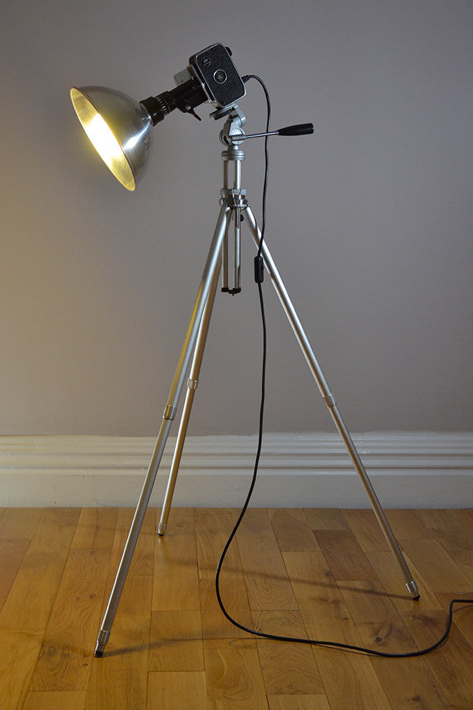 1960s 'Zoom Zoom Zoom' Bolex Tall Camera Light, Floor Lamp