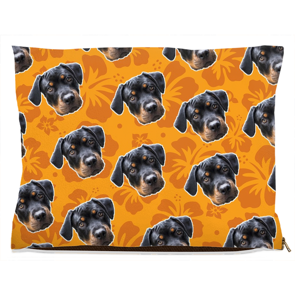 Orange Hawaiian Pet Bed