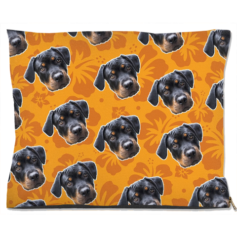 Image of Orange Hawaiian Pet Bed