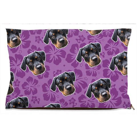 Purple Hawaiian Pet Bed