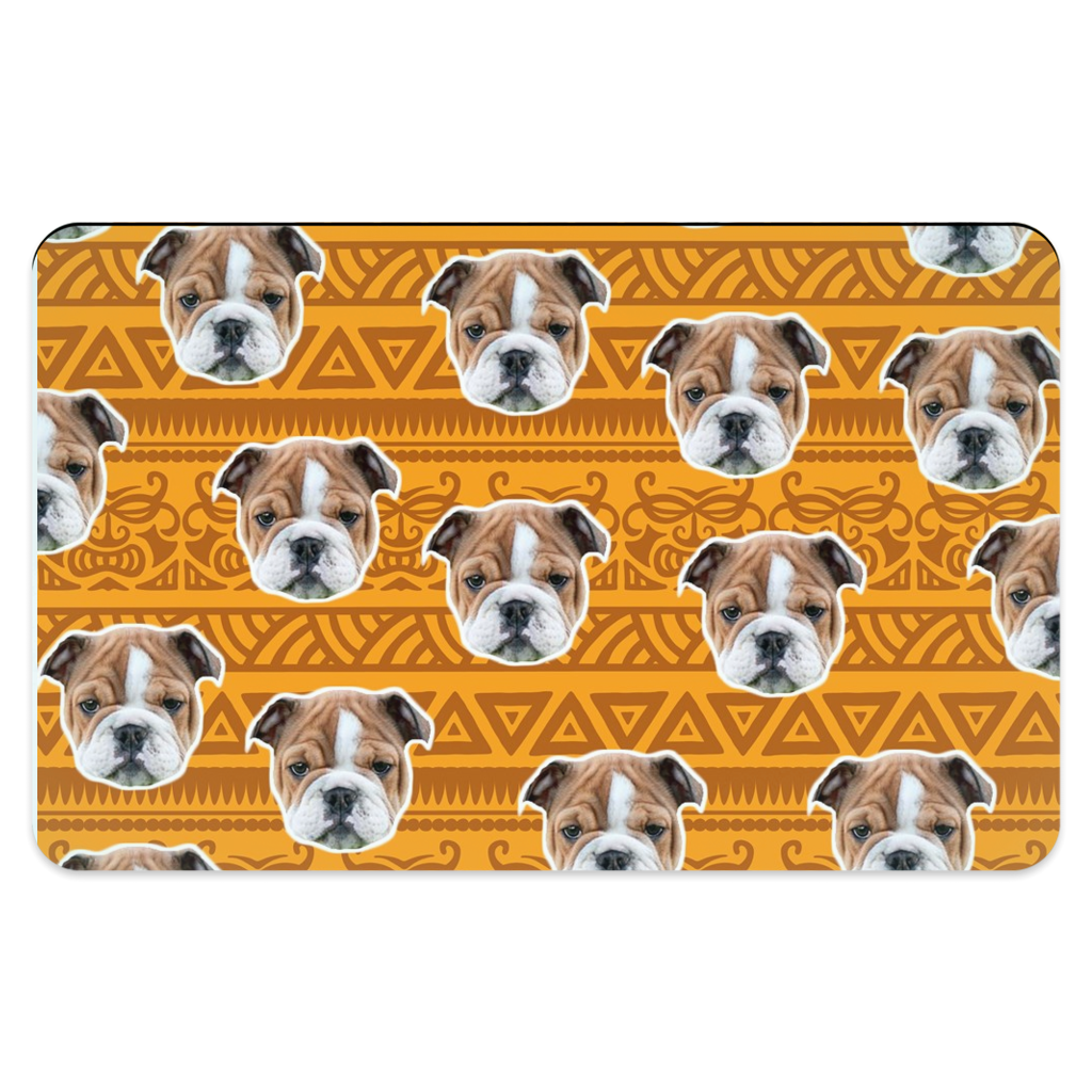 Orange Tribal Print Pet Placemats