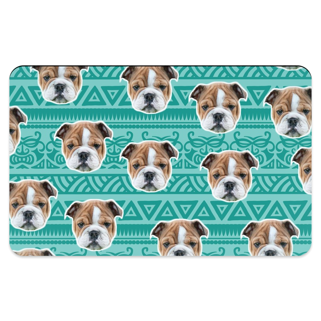 Blue Tribal Print Pet Placemats