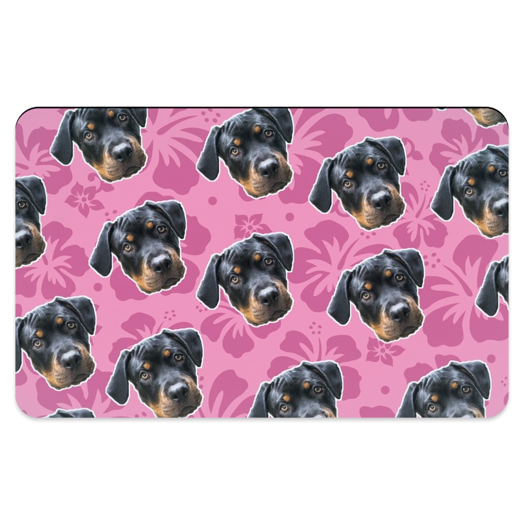 Pink Hawaiian Pet Placemats