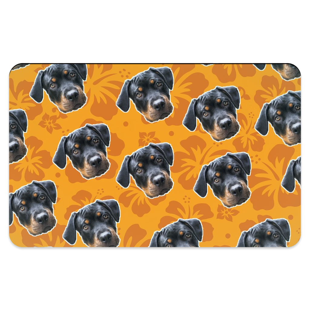 Orange Hawaiian Pet Placemats