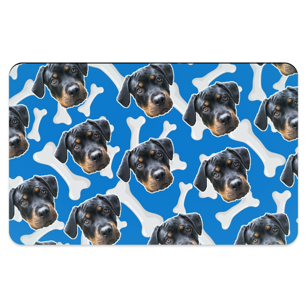 Dark Blue Dog Bone Pet Placemats