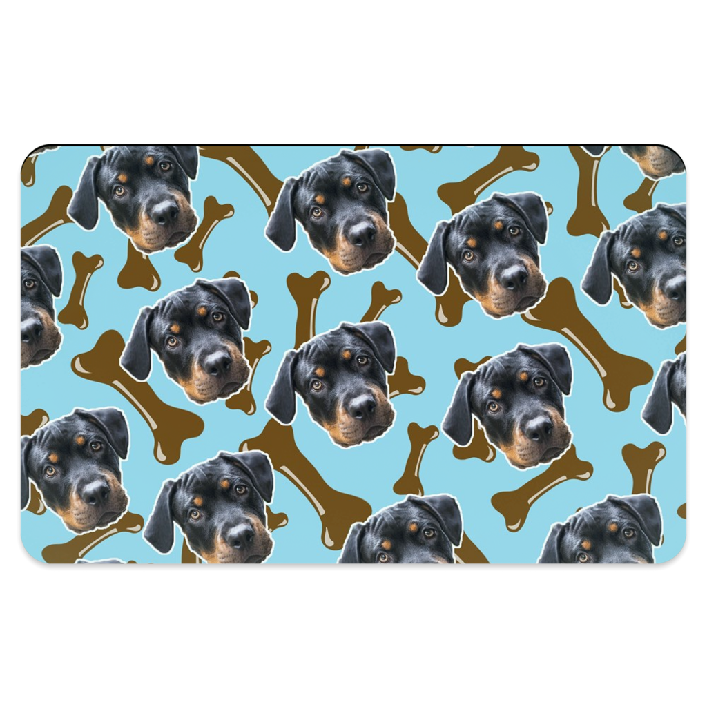 Brown Dog Bone Pet Placemats