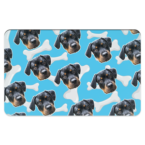 Light Blue Dog Bone Pet Placemats