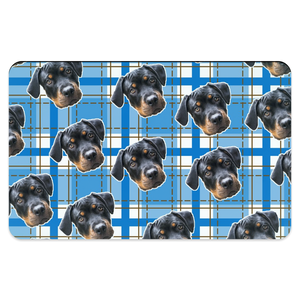 Blue Plaid Pet Placemats