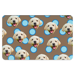 Polka Dot Pattern Pet Placemats