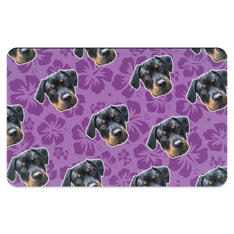 Purple Hawaiian Pet Placemats