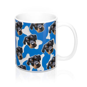 Dark Blue Dog Bone Coffee Mug