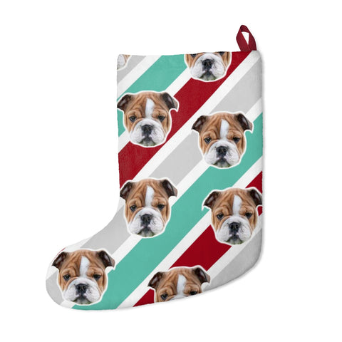 Image of Stripe Christmas Stocking