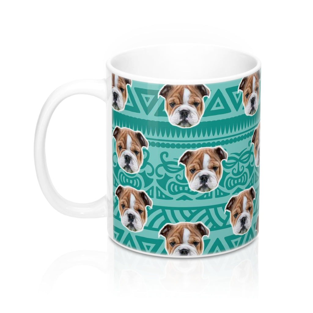 Blue Tribal Print Coffee Mug