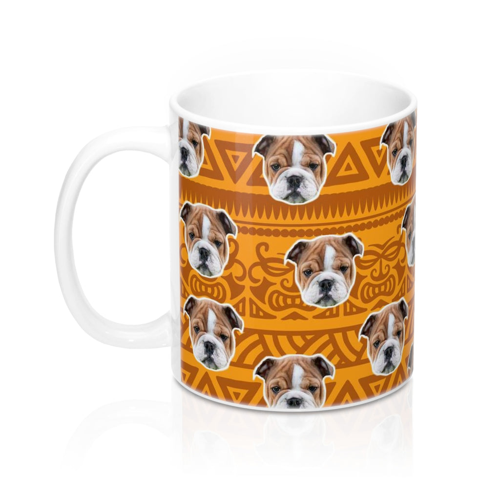 Orange Tribal Print Coffee Mug