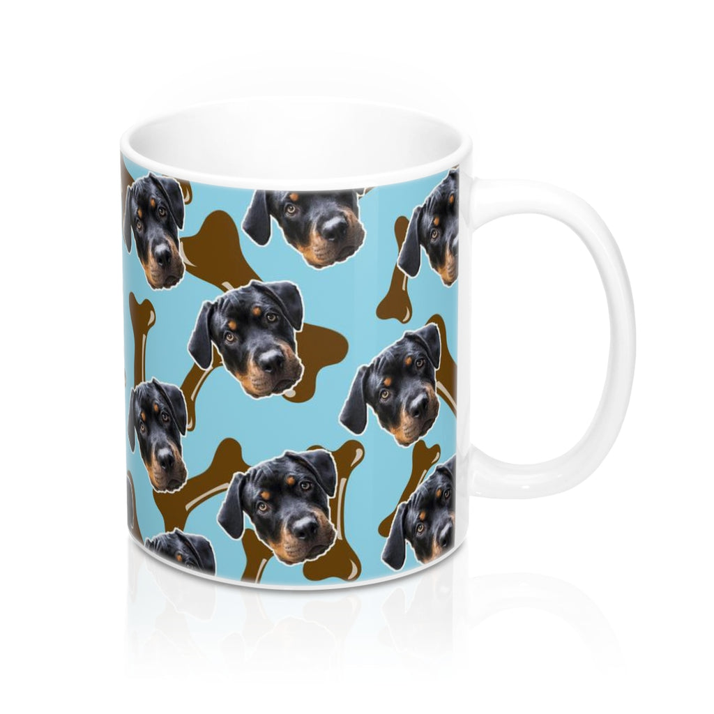 Brown Dog Bone Coffee Mug