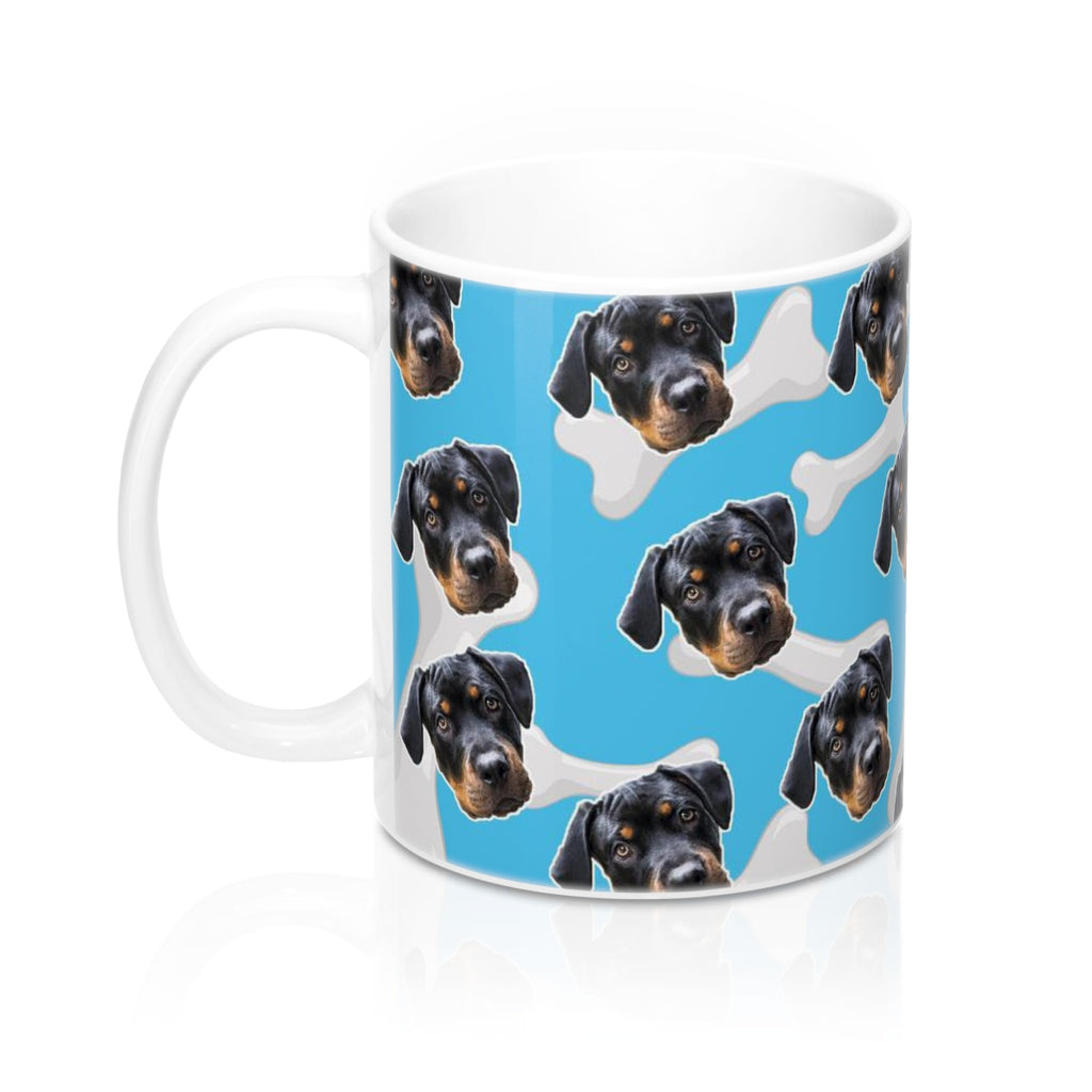 White Dog Bone Coffee Mug