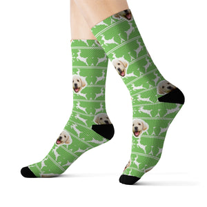 Reindeer Ugly Xmas Sweater Sock (Various Colors)