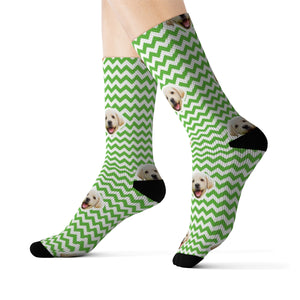 Zig Zag Ugly Xmas Sweater Sock (Various Colors)