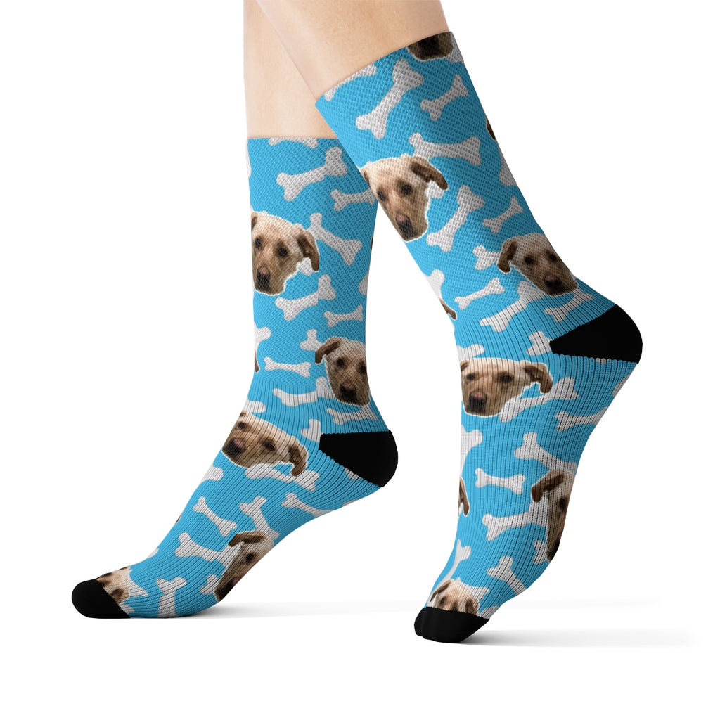 Light Blue Bone Sock
