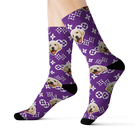 Image of Louis Vuitton Style Sock (Various Colors)