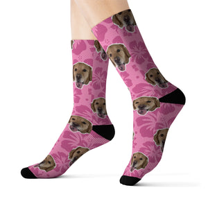 Pink Hawaiian Sock