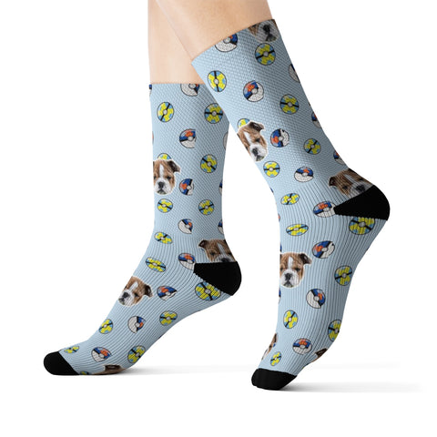 Light Blue Poké Ball Inspired Sock
