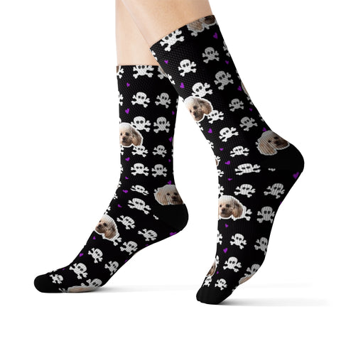 Image of Skulls Sock (Various Colors)