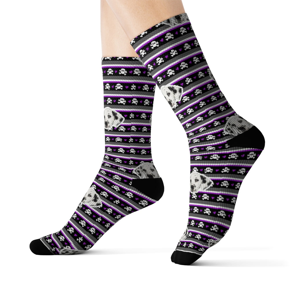 Small Skulls Sock (Various Colors)
