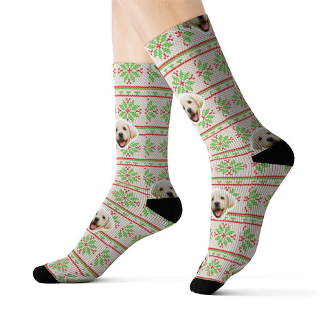 Image of Snowflake Ugly Xmas Sweater Sock (Various Colors)