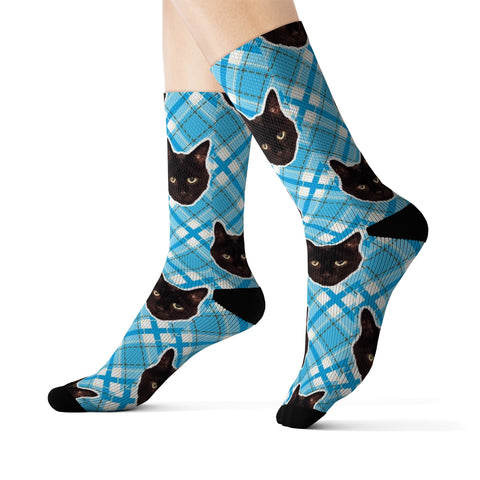 Blue Plaid Sock