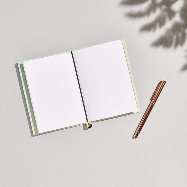 Personalised Mint Green Leather A6 Refillable Journal - Ava - Sbri