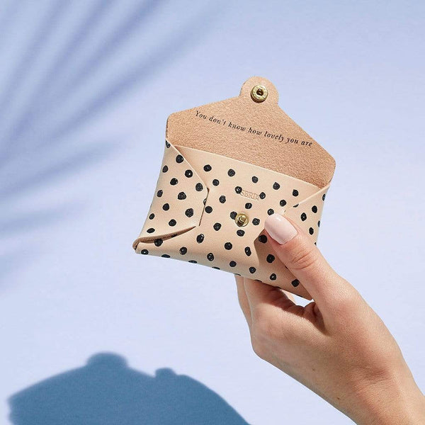 Personalised Spot Print Leather Coin Purse - Dorothy - Sbri