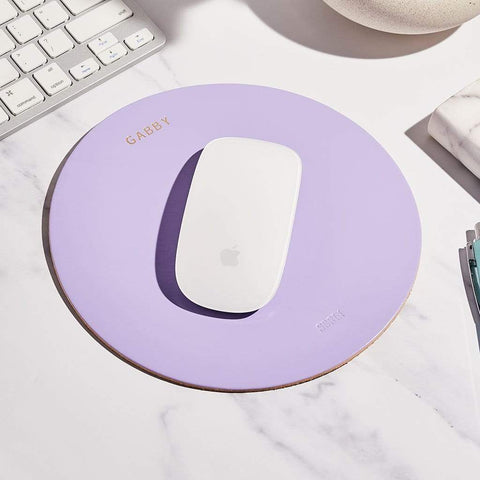 Personalised Leather Mousemat Lilac - Sbri