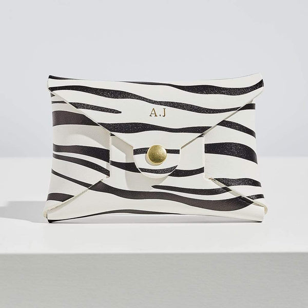 Personalised Zebra Print Leather Coin Purse - Savannah - Sbri