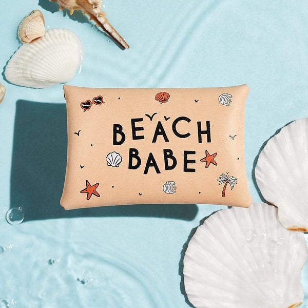 Personalised Beach Patterned Leather Coin Purse - Summer - Sbri