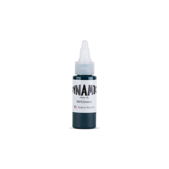 Dynamic Green Tattoo Ink - 1 oz. Bottle