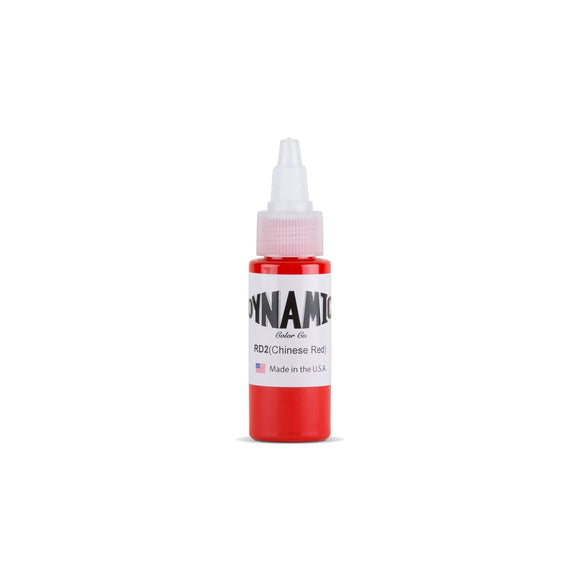 Dynamic Chinese Red Tattoo Ink - 1 oz. Bottle