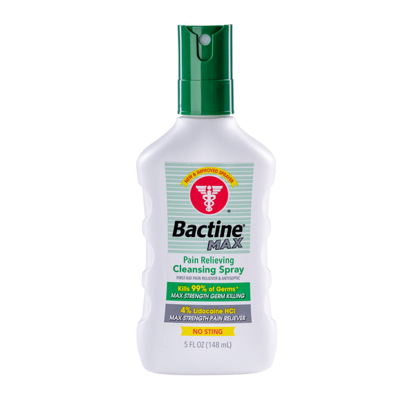 Bactine MAX Pain Relieving Cleansing Spray 5oz. 消毒止痛噴霧 加強版