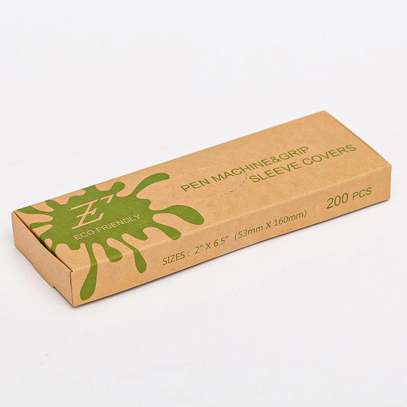 Biodegradable Pen Machine & Grip Sleeve Covers 環保紋身機袋 (200pc/ box)