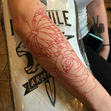 S8 Red Tattoo Stencil Paper 紋身轉印紙(紅色)